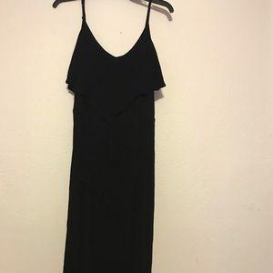 Black long dress slit on the left leg